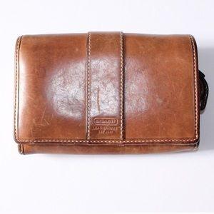 Vintage Coach Brown Cognac Leather Bifold Wallet